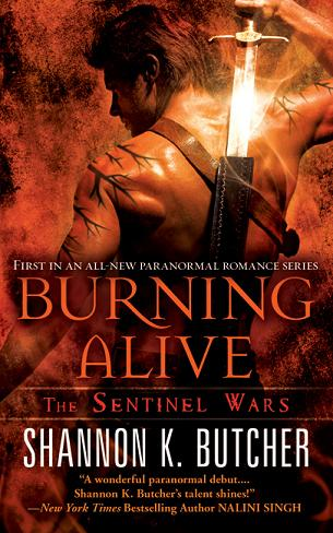 Shannon K. Butcher's Burning Alive (The Sentinel Wars Book 1)